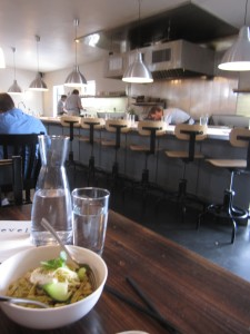 The extraordinary Dungeness Crab Seaweed Noodles and the kitchen at Revel