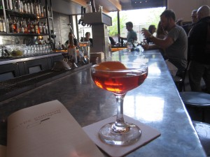 Barrel Aged Negroni at Clyde Common, Portland