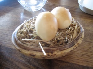 Pickled and Smoked Quail's Egg