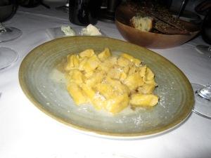 Pumpkin Agnolotti, Amoretti, Sage, Parmigiano Reggiano