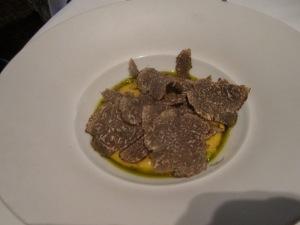 """Butternut Squash """"Porridge""""Parmesan, Sicilian Pistachios, and Black Truffle"""