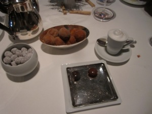Coffee and DoughnutsChocolate Covered Caramelized Macadamia Nuts Valrhona Chocolates
