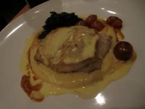 Roasted Black Cod, Sour Grapes, Lacinato Kale, Parsnip, and Sake