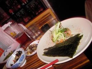 Hamachi Tacos at Tanuki