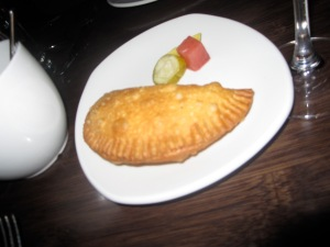 Beef, Green Olive, and Raisin Empanada