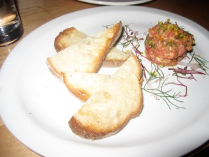 Steak Tartare-- Vodka, Chives, Shallot, Salt Cured Egg Yolk