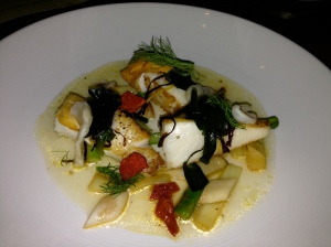 Scallops and Black Truffles at George's