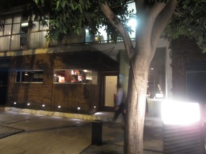 Outside Pujol, in Mexico City's Polanco neighborhood