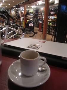 Would you like some bike and sugar with your coffee?