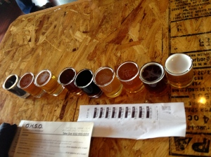 White Chocolate Ale: 3rd from left Carrot Cake: 3rd from right Coconut Joe Coffee Stout: far left