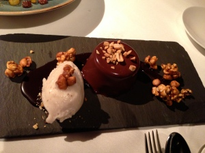 Emily Luchetti's Peanut Butter and Chocolate Mousse at Waterbar, San Francisco