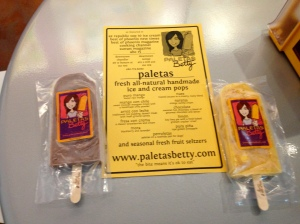 Paletas Betty, Tempe, AZ: Mexican Chocolate and Mango con Chile Paletas