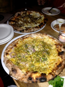 "Pizzeria Bianco, Phoenix: ""The Rosa"": Red Onion, Parmigiano Reggiano, Rosemary, and AZ Pistachios"