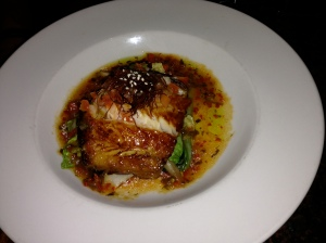 Roy's, Poipu, Kauai: Japanese Misoyaki Marinated Butterfish with Sizzling Bell Pepper Soy Vinaigrette