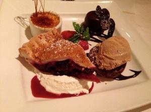 Pie? À la Mode? Crème Brûlée? Chocolate Tarts?