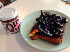Squirl's jam and toast...it's transcendent jam and toast, believe me.