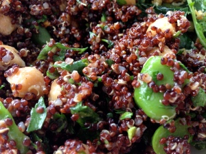 Fava Beans With Some Nice Red Quinoa