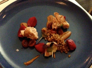 Alma's Sweetbreads, Mole, Beets, and Cherries