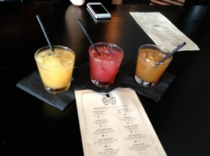 L to R: Rum Punch, Tequila Punch, Hemingway Punch, at Novela, San Francisco