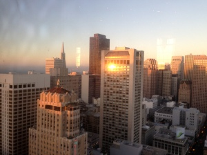 Sunset from SF Chefs Bar Bites