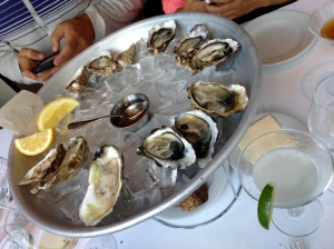 Zuni Café's oysters and margarita