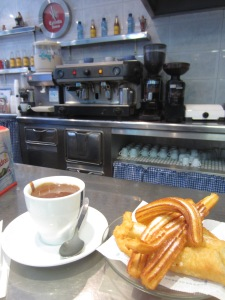 Churros and chocolate at Gran Ruiz
