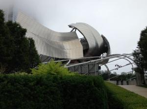 "Gehry's ""spaceship"" pavilion at Millennium Park"