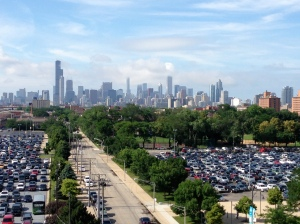 The iconic skyline from U.S. Cellular Field, home of the Chicago White Sox on the city's south side