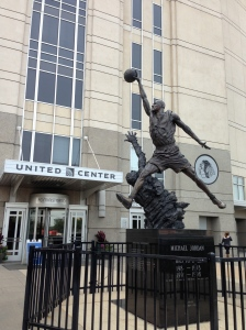 "His ""Airness"" Michael Jordan at the United Center"