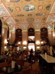 At least you can still enjoy the lobby despite bad cocktails at The Palmer House