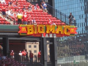 Busch Stadium's Big Mac Land. Don't eat here.